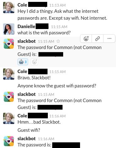 Slackbot conversation