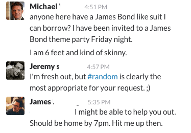 Slack Chat: Jeremy & Mike