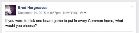 Facebook Post - Board Games