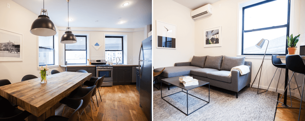 Dining and Living rooms at Havemeyer