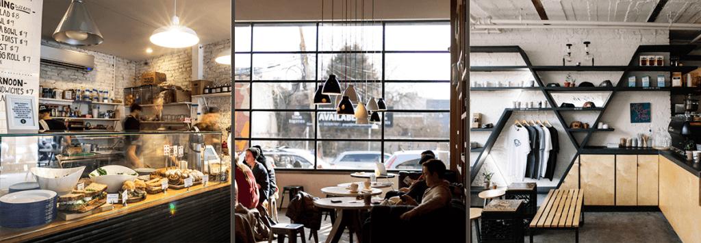 The cafe scene in Williamsburg.