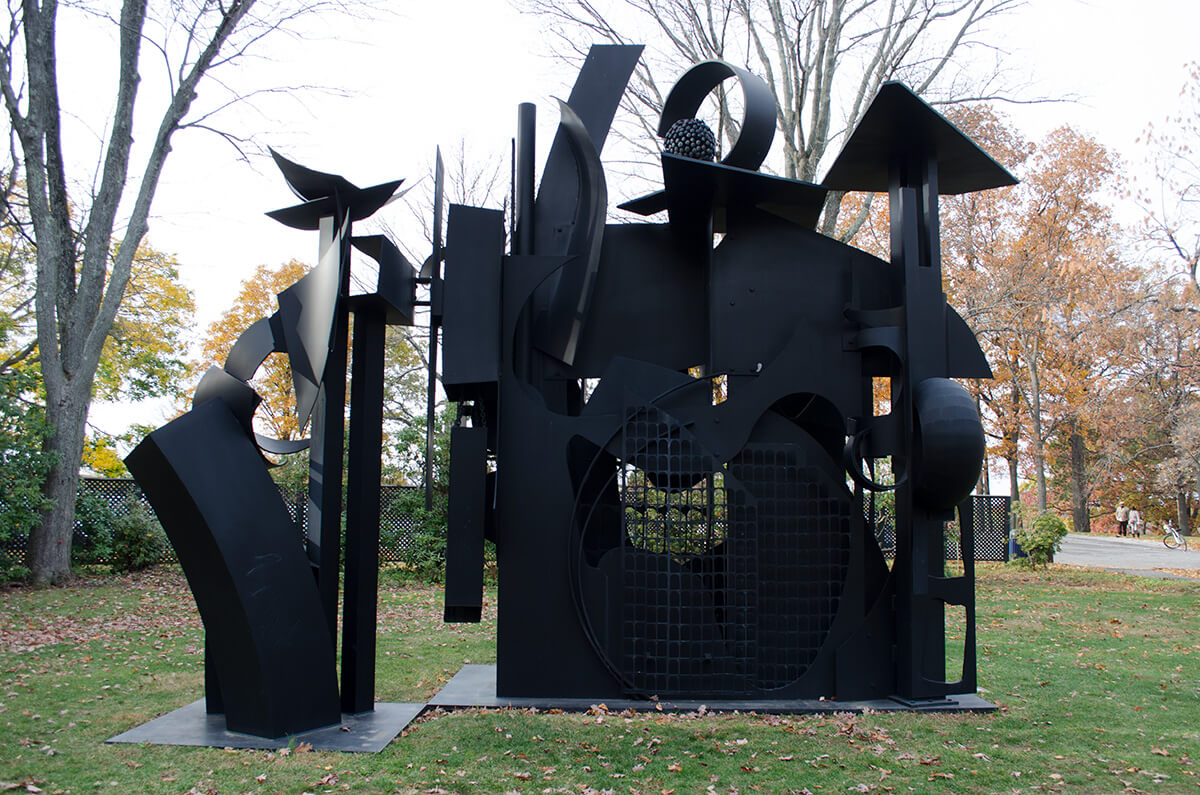Louise Nevelson's City on the High Mountain storm king