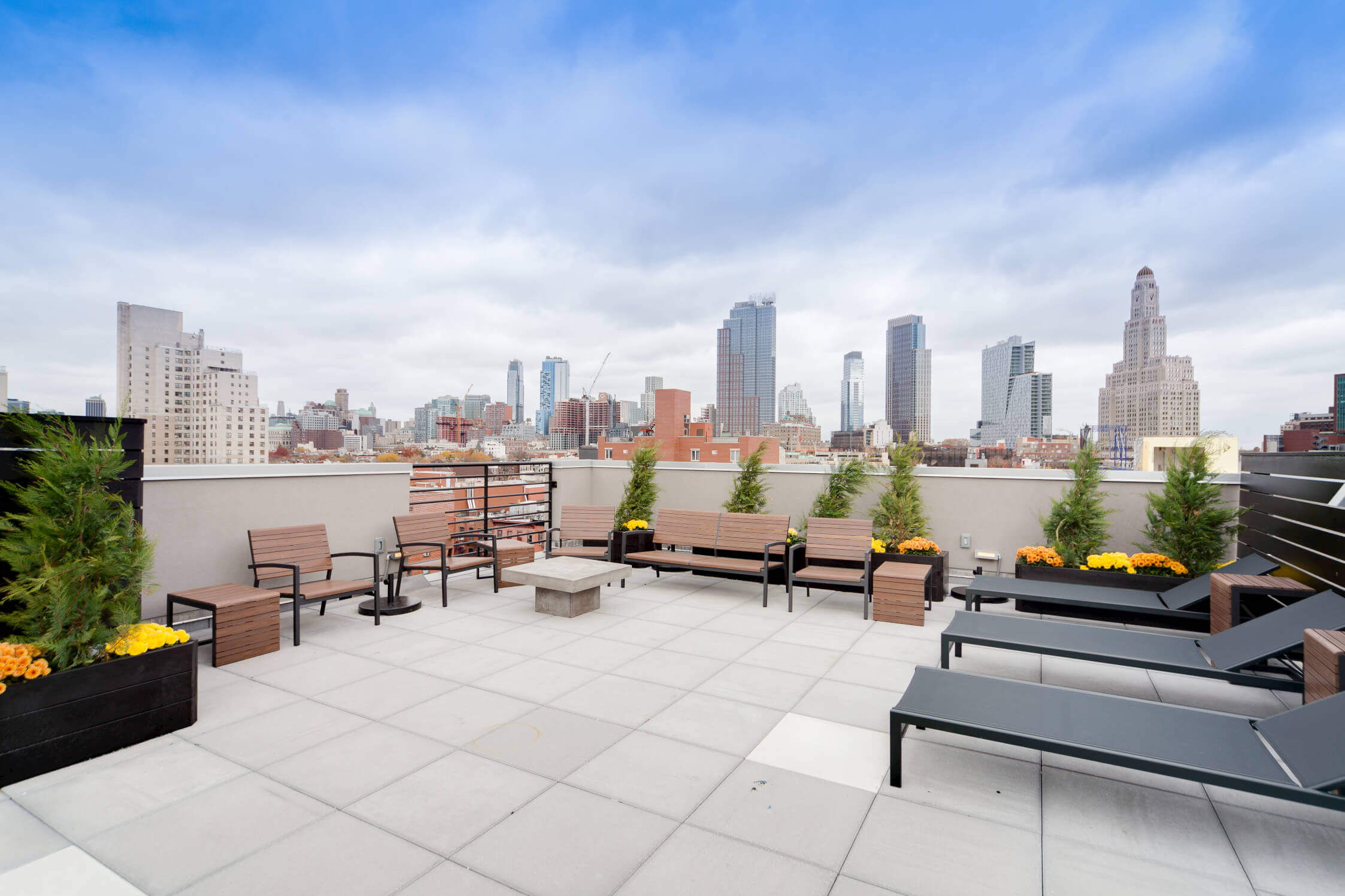 The private rooftop at Common Baltic in Boerum Hill, Brooklyn.