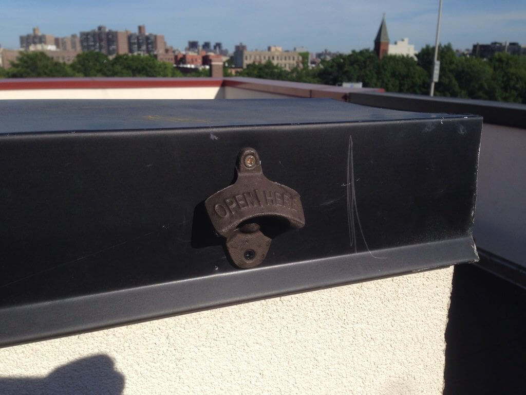 Common Havemeyer's rooftop is outfitted with everything members need including bottle openers.