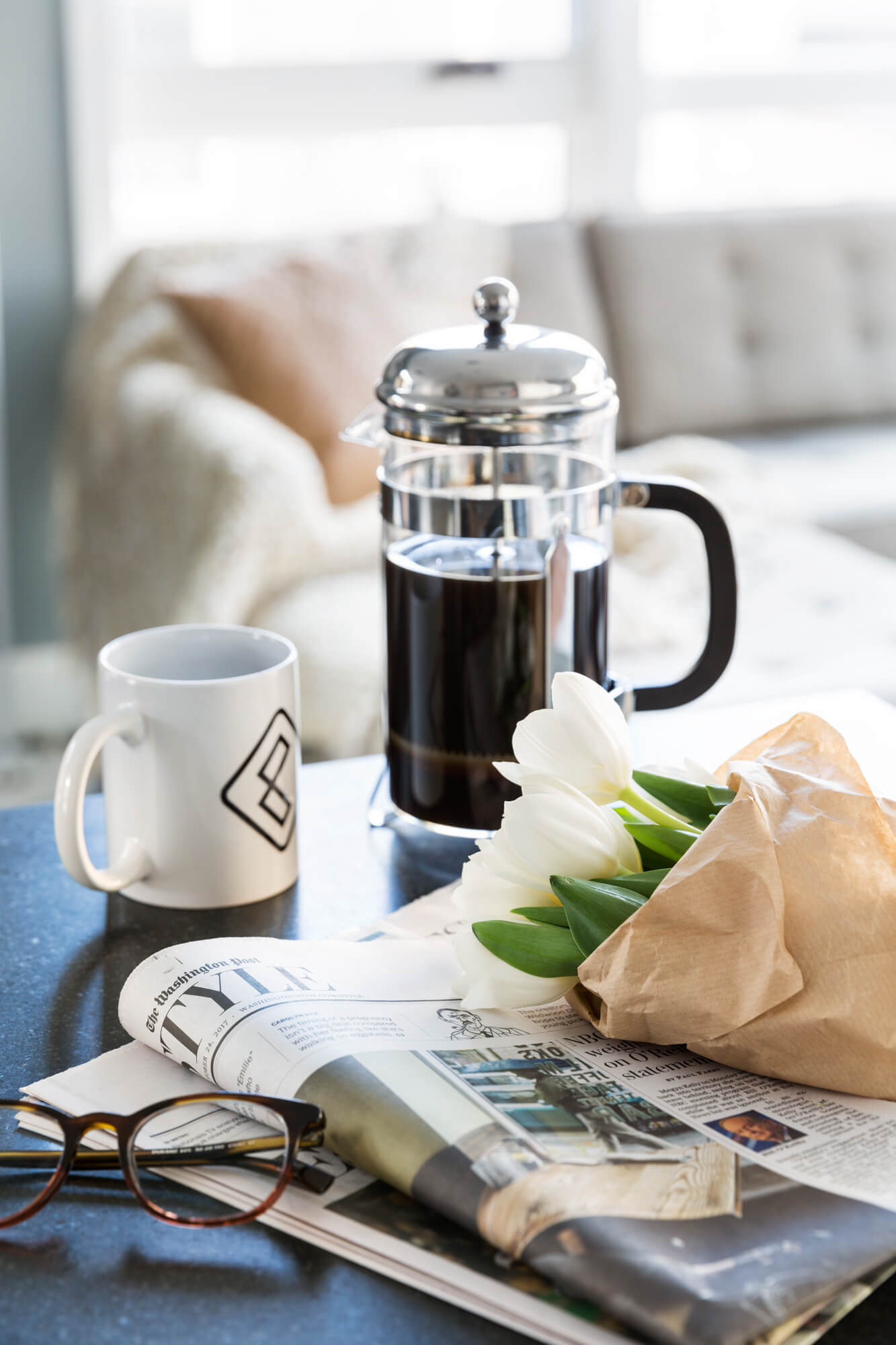 French press at Common homes