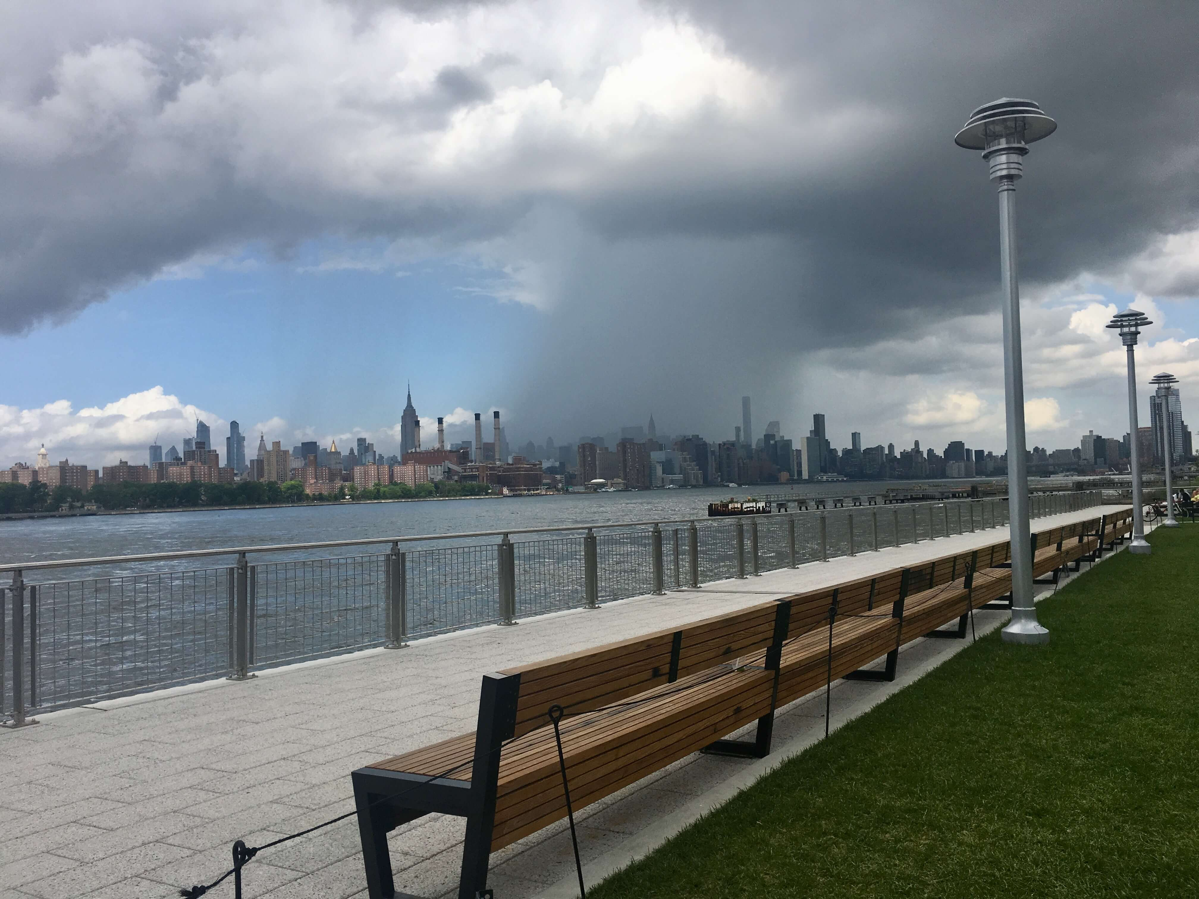 Domino Park Bench